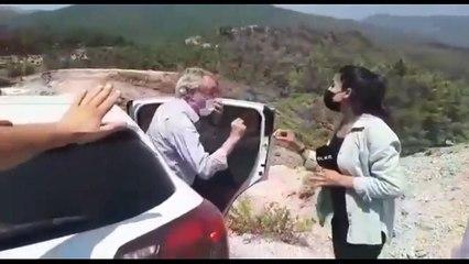 Dağ başında milletvekili gazeteci kavgası