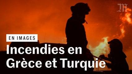 Les images des incendies qui ravagent la Grèce et la Turquie
