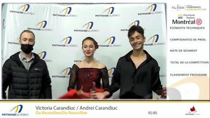 CQÉ2021- Pré-Novice Danse Libre - Novice Danse Libre - Junior Couple Prog. Court