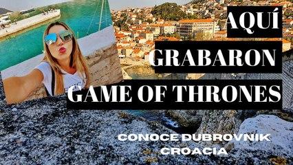 DUBROVNIK Croacia, uno de los lugares más ESPECTACULARES del mundo. Aquí rodaron Game Of Thrones.