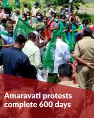 Tension in Amaravati as protests intensify on 600th day of 'Save Amaravati' campaign
