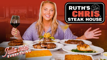 Trying 29 Of The Most Popular Dishes From Ruth's Chris Steak House | Delish