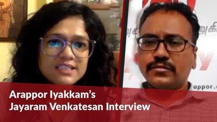 Faced close to 30 cases for taking on SP Velumani : Arappor Iyakkam's V Jayaram