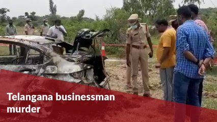 Telangana businessman murdered, body dumped in his car and set on fire
