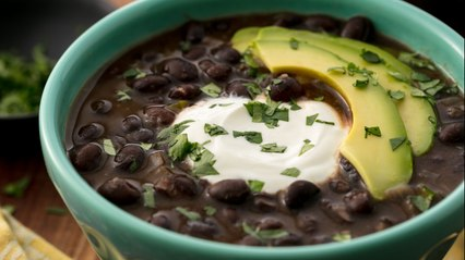 Nothing Hits The Spot Quite Like Classic Black Bean Soup