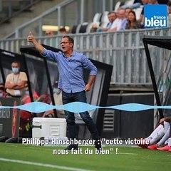 Philippe Hinschberger se rassure après la première victoire de l'Amiens SC (2-0) en championnat