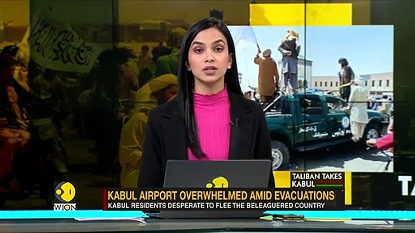 Kabul airport overwhelmed amid evacuations of Afghans after Taliban's siege in c