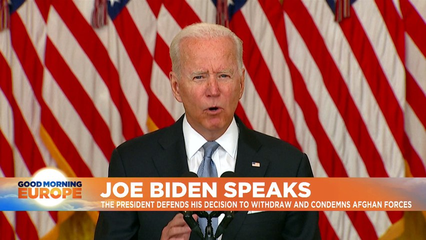 Joe Biden: Decision to pull troops out of Afghanistan 'the right one for America'