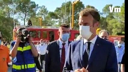 Incendie de Gonfaron: Emmanuel Macron salue le courage des sapeurs pompiers