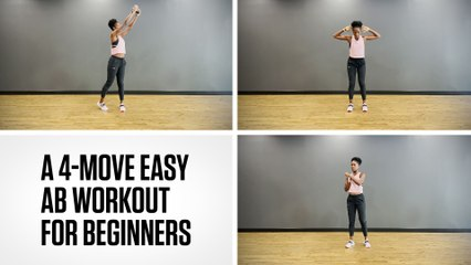 A 4-Move Easy Ab Workout for Beginners