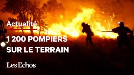 Dans le Var, 1 200 pompiers luttent contre le feux