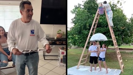 Family Guesses How Dad Will React To Pregnancy News & Paint Pour Gender Reveal