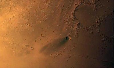كاميرا الاستكشاف الرقمية لمسبار الأمل تلتقط صورة لمنطقة بركانية فوق المريخ