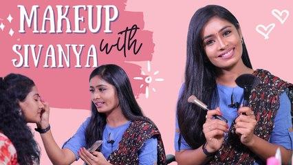 Eye Makeup-ல இவ்ளோ விஷயம் இருக்கா? | Makeup With Actress Priyanka Sivanya | Paavam Ganesan Yamuna
