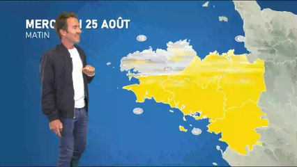 Bulletin météo pour le mercredi 25 août 2021