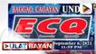 Mga bayan ng Baggao at Solana sa Cagayan, isasailalim sa ECQ simula Agosto 24 hanggang Setyembre 6; Karagdagang higit 10-K doses ng Sinovac vaccine, dumating sa Pangasinan; Mass testing sa Laguna, mas pinaigting dahil sa mga kumpirmadong kaso