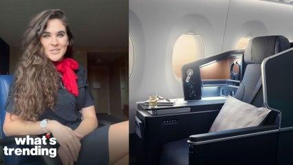 Viral TikTok Flight Attendant Answers FAQ's on Getting First Class for Free