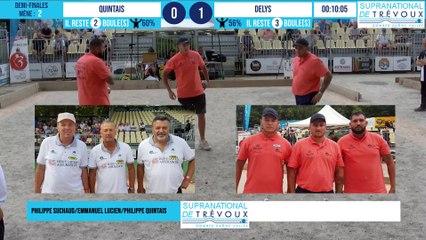 Demi-finale SUCHAUD vs DESLYS : Supranational à pétanque de Trévoux 2021