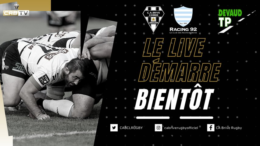 Rugby : Video - CA Brive vs Racing 92 - Match Amical
