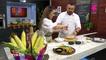 La Cocina del Cinco - Tostada de Aguacate y Maiz, Fritas de Maiz, Caldo de Maíz y Cilantro, Fritas de Élote