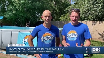 Now Pools - New Arizona company lets you rent above-ground pools for the summer