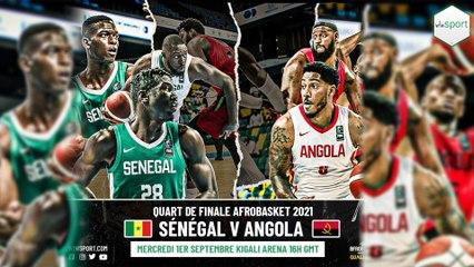 #Afrobasket Quart de finale Sénégal vs Angola