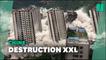 En Chine, les images spectaculaires de 15 immeubles détruits en même temps