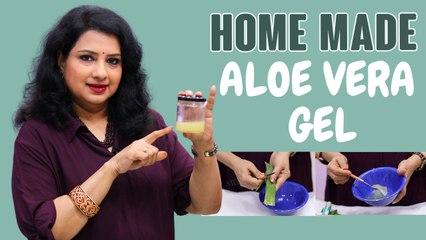 வீட்டிலேயே Aloe Vera Gel செய்வது எப்படி? | DIY Aloe Vera Gel at home  | Vasundhara Tips | Say Swag