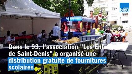À Saint-Denis, distribution gratuite de fournitures scolaires