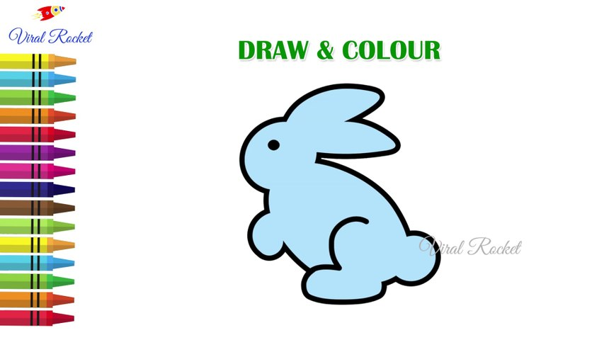 Easy Rabbit Drawing Step by Step | Cute Cartoon Bunny drawing | How to draw a Rabbit/Art Breeze # 58 | Viral Rocket