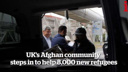 The British Afghans helping newly arrived refugees while their families remain trapped with the Taliban