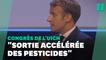 """Macron promet pour la """"sortie accélérée des pesticides"""" une """"initiative forte"""" avec l'UE"""