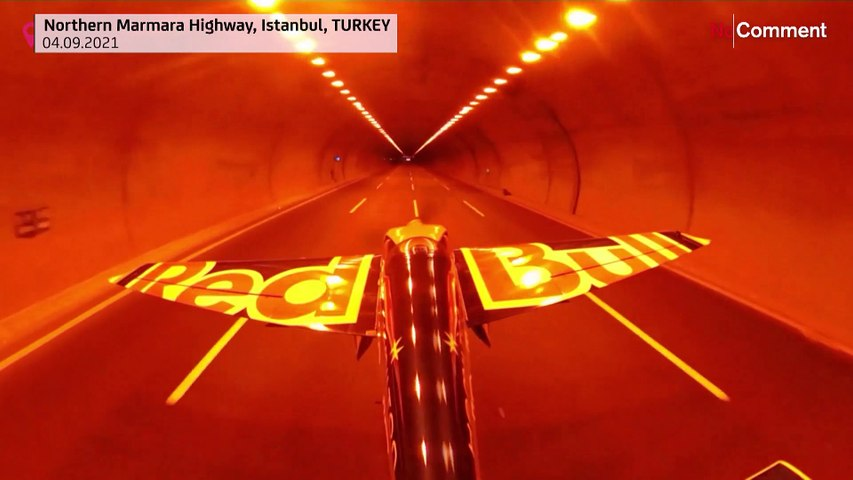 World first as aeroplane flies through tunnel at 245 km/h to set World Records