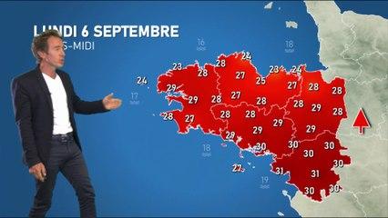 Bulletin météo pour le lundi 6 septembre
