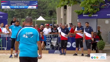 CHAMPIONNAT DE FRANCE TRIPLETTE JP - CABESTANY 2021 - 1/2 CD66 VS CD30