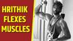 Hrithik Roshan flexes muscle in new post
