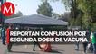 Confusión en sede de vacunación anticovid en Campo Marte, CdMx