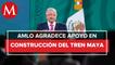 AMLO sobrevoló con Carlos Slim obras del Tren Maya