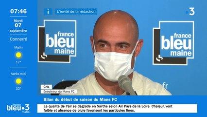L'entraîneur du Mans FC, Cris, invité de France Bleu Maine