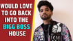 Zeeshan Khan: I would love to go back into the Bigg Boss house but not without my self-respect