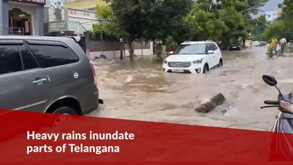 Heavy rains inundate roads and low-lying colonies in parts of Telangana