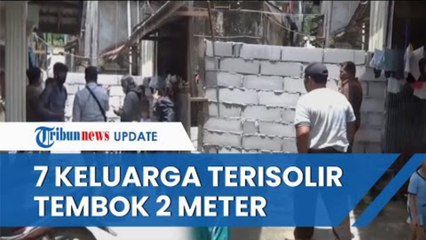 Nasib 7 Keluarga di Balikpapan Akses Jalan Dihalangi Tembok 2 Meter, Pakai Tangga untuk Beraktivitas