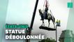 Une gigantesque statue symbole du passé esclavagiste déboulonnée aux Etats-Unis