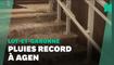 """Inondations à Agen après un """"record absolu"""" de pluies"""