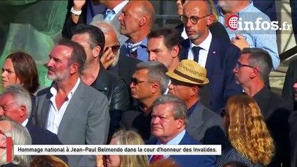 Hommage national à Jean-Paul Belmondo dans la cour d'honneur des Invalides.