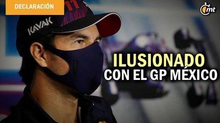 Checo Pérez, ilusionado con el GP México