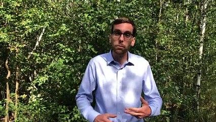Simon King, candidat du Parti vert dans Longueuil-Saint-Hubert