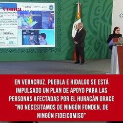 """En Veracruz, Puebla e Hidalgo se está impulsado un plan de apoyo para las personas afectadas por el huracán Grace. """"No necesitamos de ningún Fonden, de ningún fideicomiso"""", señaló Laura Velázquez, coordinadora nacional de Protección Civil."""