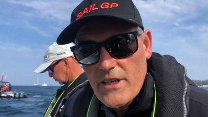 Russell Coutts et Bruno Dubois SailGP St Tropez 8/09/21