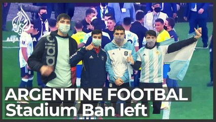Argentinian football fans return to stadiums